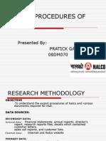 Export Procedures of Nalco