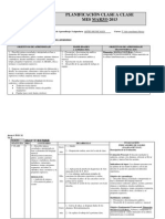 Planificación clase a clase 5º basico.2014