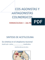 Farmacos Agonistas y Antagonistas Colinergicos