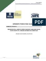 Espacios Educativos Expediente Tecnico Para Validacion Ficha478