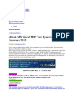 Word 2007 Odesk Test
