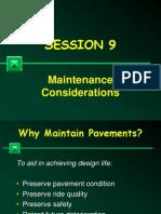 Session 9 - Maintenance