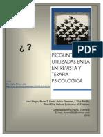 Preguntas Utilizadas en La Entrevista y Terapia Psicologia
