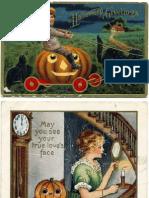Eleven Antique Halloween Postcards