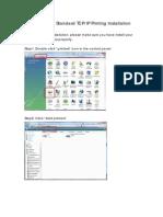 Windows Vista Standard TCPIP Installation