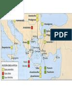 Mapa Grecia Antigua