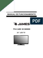 Manual Televisor James TVJ LED 32 B2600