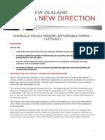 Factsheet KiwiBuild Affordable Homes
