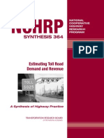 Nchrp_syn_364 Estimating Toll Road Demand and Revenue