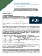 PRÁCTICA 4 Cinética química