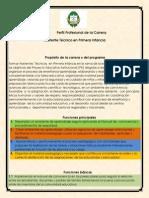 Perfil Profesional de La carrera Asistente Técnico en Primera Infancia.