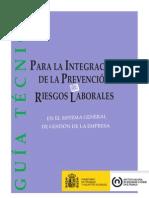 Guía integración de la prevención