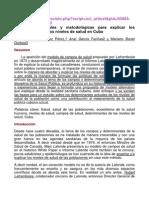 01. Pautas conceptuales y metodológicas para explicar los determinantes de los niveles de salud en Cuba