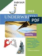 Underwriting Para Imprimir