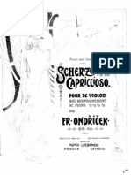 Ondricek Scherzo Capriccioso pour le Violon