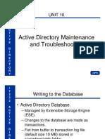 IT222 Unit 10 Active Directory Maintenance