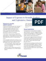 Impact of Exposure to Sexually Explicit Exploitative Materials