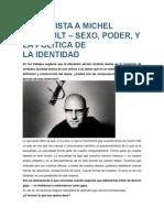 Entrevista a Michel Foucault