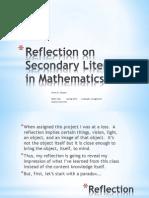 Literacy in Math Reflection