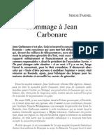 Hommage à Jean Carbonare