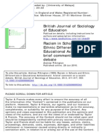 Andrew Pilkington -Racism in Schools and Ethnic Differentials in Educational Achievement