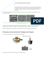 Processo de fabricação aço ferramenta