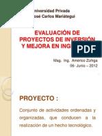Evaluación de Proyectos de Inversión y Mejora en Ingeniería