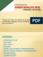 Wireless Power Transmission Solar Power Satellite (Sps) Powering the Future