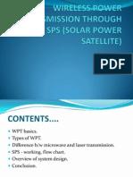 Wireless Power Transmission Through Sps (Solar Power Satellite)
