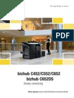 Brochure Bizhub C452 C552 C652 DS 3