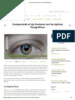 Comparando el ojo humano con las ópticas fotográficas