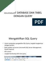 Membuat Database Dan Tabel Dengan Query
