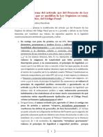 Petición de reforma del artículo 510 del Proyecto de Ley Orgánica por la que se modifica la Ley Orgánica 10