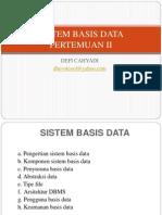 DataBase Pertemuan II