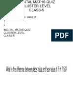 Class-5 Mental Maths