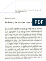 Paolo Giussani - Orthodoxy in Marxian Price Theory