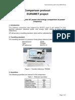 EURAMET-P1172 ELECT Technical Protocol