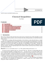 Classical Inequalities Concepts