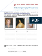 compréhension orale des poèmes de Baudelaire