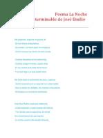 Poema La Noche Nuestra Interminable de José Emilio Pacheco