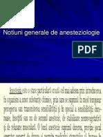 Notiuni Generale de Anesteziologie