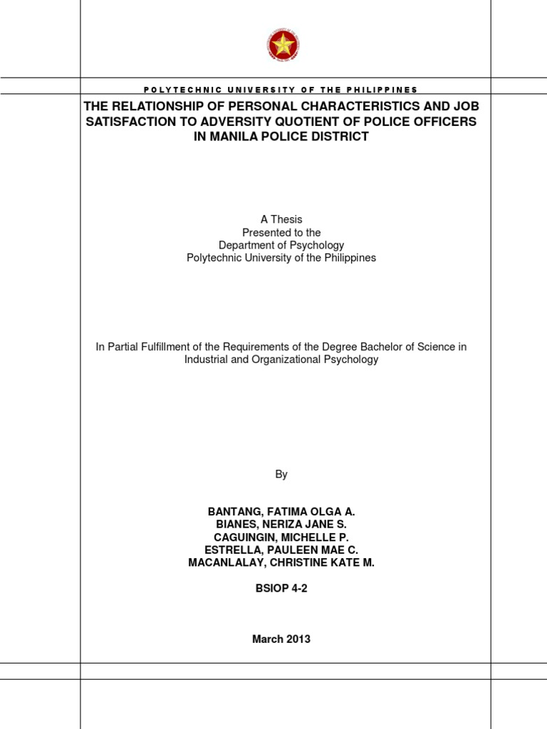 Pup Sample Thesis Coping Psychology Psychological