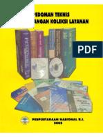 Pedoman Teknis Pengembangan Koleksi Layanan