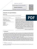 Towards Soil Geostatistics