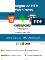 Cómo migrar de HTML a WordPress con CMS2CMS