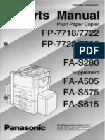 Panasonic FP-7728 Parts Manual