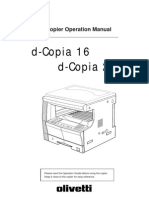 Olivetti d16-200 Operation Manual