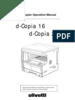 Olivetti d16-200 Operation Manual