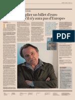L'Euro et l'Europe vus par Regis Debray