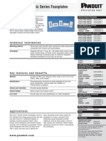 Panduit Mini-Com® Classic Series Faceplates Specification Sheet